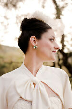 BHLDN Anthropologie Ivory Watercourse Jacket Bridal coverup - Size L - NWOT $160