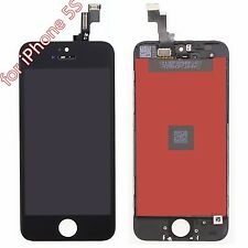 For iPhone 5s Black Touch Screen Glass Digitizer LCD Screen Frame Assembly QWER