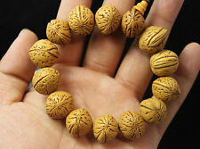 13mm Bodhi tree seeds Wood Tibet Buddhist Prayer Beads Mala Bless Bracelet