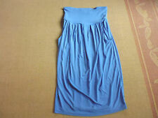 LADIES CUTE BLUE POLYESTER PLEATED POCKET SKIRT BY SUPRE - SIZE M - AUS 8/10