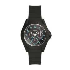 "Fossil ES4063 ""Poptastic Sport"" Multi-Function Black Silicone Watch"