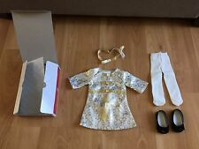 NIB American Girl Melody doll Christmas Outfit dress shoes tights headband 18 in