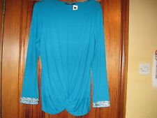Bright Blue Dunnes Beaded  Top Size 18 New with Tag