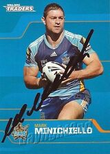 Signed 2013 GOLD COAST TITANS NRL Card MARK MINICHIELLO