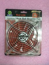 Red LED 1200RPM 14CM BALL BEARING COOLING FAN   CF-1412R