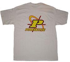 POWERLITE Cruz pelos con el logotipo Camiseta BMX-XL-Blanco-Vintage Vieja Escuela