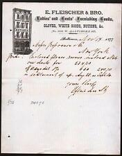 1877 Baltimore Md - Hosiery & Gloves Notions - E Fleischer & Bros - Letter Head