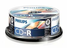 PHILIPS CD-R 80 MINUTE 700MB 52X SPEED INKJET BLANK CD DISCS - 25 PACK