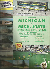 1956 Michigan vs MSU college football program Duffy & Biggy vs Yost & Oosterbaan