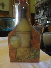 grand vlin reisling grapes glas wine bottle shaped cutting board kitchen display