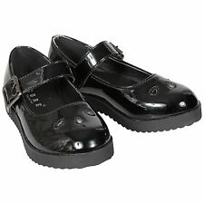 NEW GIRLS KIDS CHILDREN FLAT MARY JANE BUCKLE STRAP SCHOOL PUMPS SHOES SIZE 8-2
