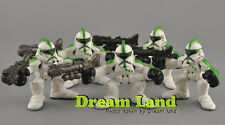 LOT!  5pcs Hasbro Star Wars Galactic Heroes Green Clone Trooper Figures Set