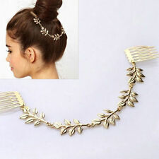 Hippie Flower Comb Tassel Clip headband head piece chain elastic hair band (34)