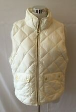 NWT J Crew Excursion Quilted Down Vest Bright Ivory Sz XL $120 #B0109