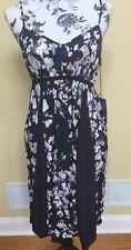 Simply Vera Vera Wang Blue Floral Summer Dress Petite Medium