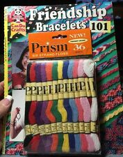 Friendship Bracelets 101 Can Do Crafts by Suzanne McNeill  W/ 36 Skeins Floss