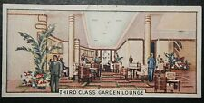 RMS QUEEN MARY  Third Class Garden Lounge   Cunard Liner  Vintage Card