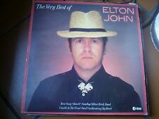 LP THE VERY BEST OF ELTON JOHN KTEL ITALY 1980 COVER EX+ VINILE VG+