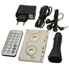 Cassette Car Stereo Tape SD MMC CD MP3 Player Adapter Kit With Remote Control