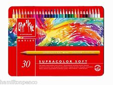 CARAN D'ACHE SUPRACOLOR SOFT TIN of 30 water soluble soft colour pencils