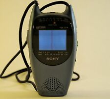 Sony Watchman FDL-221R AM/FM Radio Color TV Portable w/Neck Strap Vintage Japan