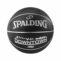 Spalding Downtown Outdoor Basketball Size 7 Adult BLACK Basket Ball Inflated