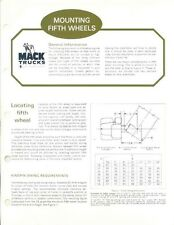 1972 Mack Mounting Fifth Wheel Truck Brochure my4041