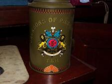 JACKSONS of PICCADILLY TEA CONTAINER CANISTER METAL TIN Vintage GREEN LIONS