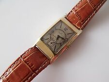 UNISEX VINTAGE .375 9CT GOLD MANUAL WINDING OMEGA WRIST WATCH