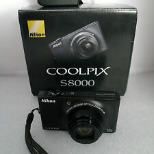 Nikon Coolpix S8000 10x Optical Zoom VR 14.2MP megapixel digital camera