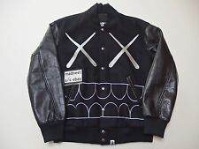 RARE KAWS x BAPE CHOMPER LEATHER STADIUM JACKET MEDIUM a bathing ape