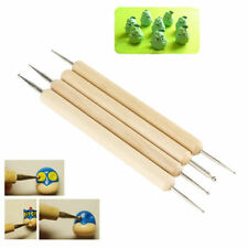4 in 1 Wooden Polymer Clay Pottery Ball Stylus Sculpting Carving Modeling Tools