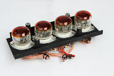 4 x Mullard ZM1020 / Z520M Nixie Tubes on the plate / stand