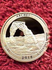 2014 S Arches Utah ATB Quarter Clad GEM Proof Deep Cameo A18