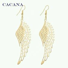 2016 New CACANA Gold Plated Dangle Long Earrings with Big Wing