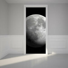 Door Wall Sticker Luna Full Moon - Self Adhesive Removable Fabric Mural