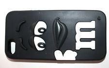 Handy Back Cover Schwarz  Lustig M für iPhone 5 & 5S & 6 &6S