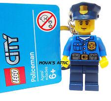 LEGO POLICÍA LLAVERO MINIFIGURA NUEVO