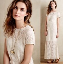 Lilka Anthropologie Size Small Ivory Lace Overlay Maxi Dress
