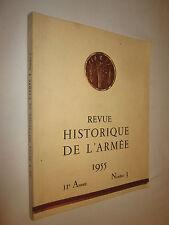 REVUE HISTORIQUE DE L'ARMEE la SARRE  N° 3 1955