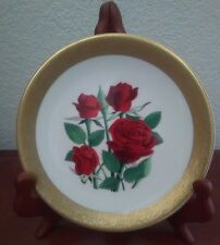 """Black Jade "" Miniature Rose Plate Part of  Celebration of Love Collection"