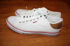 NEW Mens Levis STAN BUCK White Sneaker Canvas Shoes Size 8.5