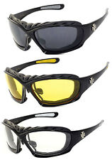 3 Pairs Combo Choppers Motorcycle Padded Foam Riding Glasses Sunglasses - C49