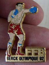 PIN'S SPORT BOXE FFB BERCK OLYMPIQUE 92 ARTHUS BERTRAND