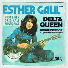 """Esther GALIL Vinyl 45 tours SP 7"""" DELTA QUEEN - CONQUISTADOR -BARCLAY 61682 RARE"""