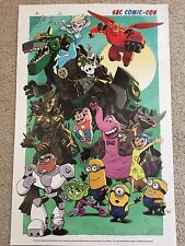 2016 SVCC Comic Con Colorful Promo Poster of Favorite Characters 11x17