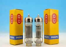 E80L MATCHED PHILIPS Heerlen Pentode Power Output Tubes PAIR / 6227