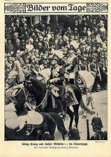 König Georg & Kaiser Wilhelm II. im Trauerzuge Historische Aufnahme von 1910