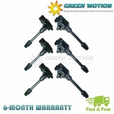 Set of 6 Ignition Coils on Plug Pack For 1996 1998 Nissan Infiniti Maxima I30 V6