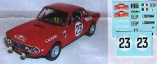 decal 1/43 LANCIA FULVIA HF 1.6 MONTECARLO 1970 Virate Miniature V086